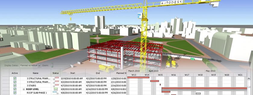 4D Construction Scheduling Sample Image
