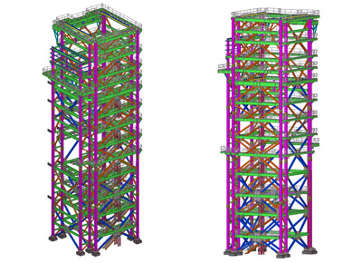 Elevation Tekla Model